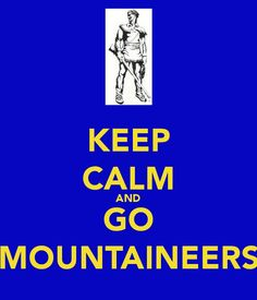 Now this calm I approve of ! Let's Go Mountaineers! <3 !!!!!