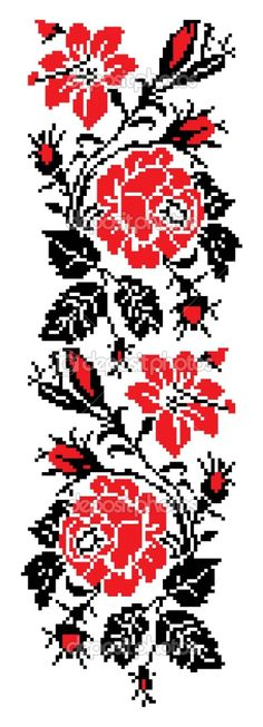 Grand Sewing Embroidery Designs At Home Ideas. Beauteous Finished Sewing Embroidery Designs At Home Ideas. Hand Embroidery Tutorial, Folk Embroidery, Learn Embroidery, Embroidery Stitches, Embroidery Patterns, Cross Stitch Patterns, Flower Embroidery, Red Color Meaning, Cross Stitch Rose