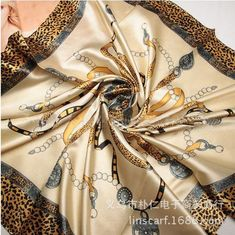 Free Shipping 2016 Hot Sale Satin Square Silk Scarf Printed For Ladies,New Arrival Women Brand Polyester Scarves 90*90cm
