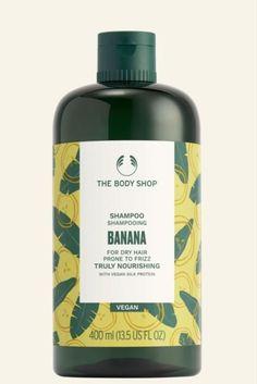 Body Shop At Home, The Body Shop, Nourishing Shampoo, Banana Fruit, Vegan Shopping, Hair Repair, Dry Hair, Hair Looks