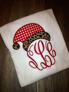christmas monogrammed shirts | Adult Ladies long sleeve Christmas Appliqué Monogrammed shirt. Merry ...