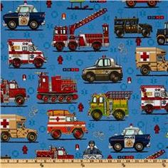 Ready Go! Large Police & Rescue Vehicles Blue