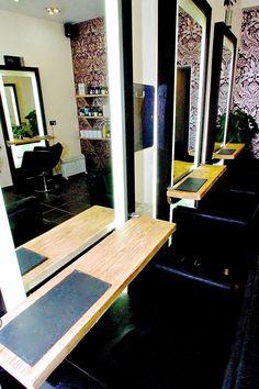 styling stations at Samuel David Hairdressing in Bristol