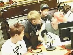 """""""Tao bugging Luhan, Tao's smile is so cute! (GIF)"""" Exo  (I don't ship them but they are totes cute together!)"""