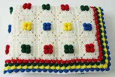 Crochet Afghan Baby Blanket Throw by KnitKnacksCreations on Etsy