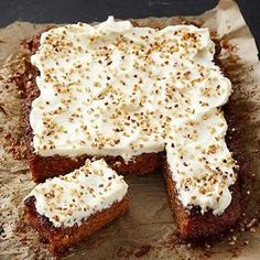 Baking Recipes, Cake Recipes, Finnish Recipes, Good Food, Yummy Food, Cake Bars, Sweet Pastries, Sweet And Salty, No Bake Cake