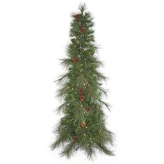 Vickerman Big Cascade Pine Artificial Christmas Tree with 500 Warm White LED Lights 9 x 42 -- Continue to the product at the image link.