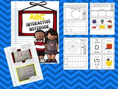 "This ABC interactive notebook is a great learning tool for your little ones. This file includes five interactive activities for each letter in the alphabet.  ~Rainbow write the letter ~Handwriting practice for both upper and lowercase letters ~Four page letter book ~Beginning sound activity ~""Race to the Top"" game"