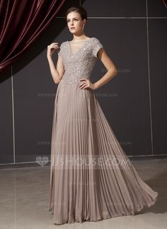 Mother of the Bride Dresses - $162.99 - A-Line/Princess V-neck Floor-Length Chiffon Tulle Mother of the Bride Dress With Ruffle Beading Appliques Sequins (008014237) http://jjshouse.com/A-Line-Princess-V-Neck-Floor-Length-Chiffon-Tulle-Mother-Of-The-Bride-Dress-With-Ruffle-Beading-Appliques-Sequins-008014237-g14237?ver=1