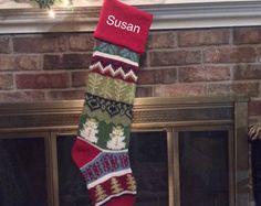 Image result for knitted christmas stockings snowman