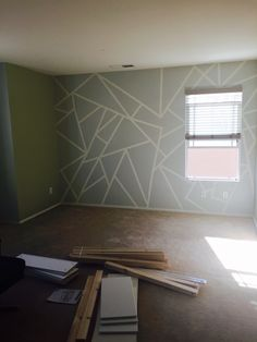 Pattern wall with frog tape