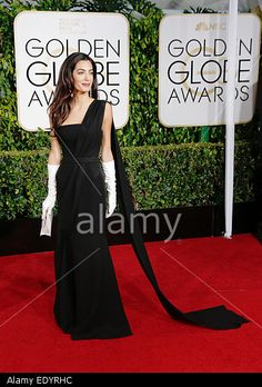 London-based British-Lebanese lawyer Amal Alamuddin Clooney arrives for the 72nd Annual Golden Globe Awards at the Beverly Hilton Hotel, in Beverly Hills, California, USA, 11 January 2015. © dpa picture alliance / Alamy