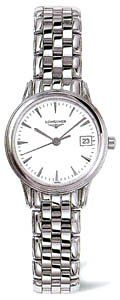 Longines Flagship White Dial Stainless Steel Ladies Watch L42164126 ** Be sure to check out this.