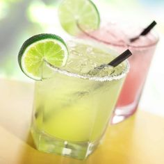2 packets of True Lime 2 oz tequila 1 oz triple sec cups crushed ice 1 teaspoon sugar Put all of the ingredients in blender. Coat the rim of two Margarita glasses with a salt + True Lime mixture. Pour contents into glasses and serve. Cocktail Margarita, Skinny Margarita, Margarita Mix, Mojito, Perfect Margarita, Cocktail Mix, Cocktail Shaker, Cocktail Drinks, Drink Recipes