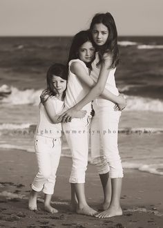 Beautiful sisters photo - this made me think of Audrey and wishing I had a picture of all three of my girls.