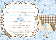 Cowboy+Baby+Shower+Invitation++Printable+Blue+Brown+by+3PeasPrints,+$18.00