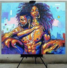 Likes, 129 Comments - Dope Black Art ( on . Art Black Love, Black Girl Art, Art Girl, African American Art, African Art, African Women, Dope Kunst, Images D'art, Art Amour