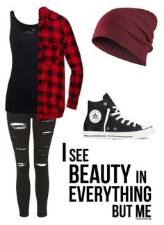 """Untitled #580"" by bands-music ❤ liked on Polyvore featuring Topshop, Juvia and Converse"