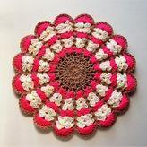 お花のフワフワ円座*lovely Head Accessories, Crochet Lace, The Creator, Crochet Earrings, Bling, Handmade, Farmhouse Rugs, Tricot, Crocheting