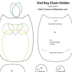 Free Felt Craft Patterns | ... With Pattern & Tutorial | Free Pattern & Tutorial at CraftPassion.com