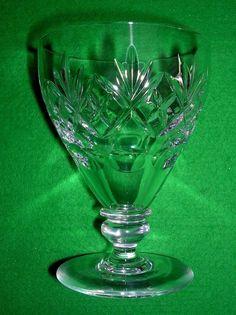 """ROYAL DOULTON GEORGIAN PATTERN 4.5"""" LARGE WINE GLASS Excellent Condition Claret #RoyalDoulton"""