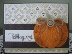 Your place to buy and sell all things handmade Stampin' Up Handmade Greeting Card: Happy Thanksgiving Thanksgiving Greeting Cards, Making Greeting Cards, Fall Cards, Holiday Cards, Christmas Cards, Happy Thanksgiving, Handmade Greetings, Greeting Cards Handmade, Thanksgiving Projects