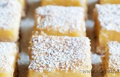 Lemon Bars   Stay at Home Mum.  These sound easy and yum