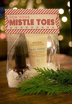 Great gift idea with lotion, emery board & nail polish. FREE printable bag topper or print it and make it a gift tag. by Marcy McKinley