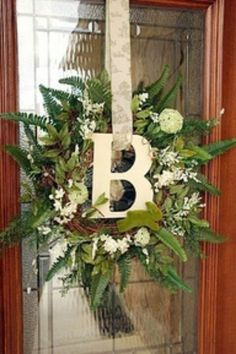 spring wreath for double front doors | wreaths / Door decorations / Spring wreath for front door