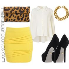 "Kinda wish I had a job where I could dress jazzy. ""All Business"" by adoremycurves on Polyvore"