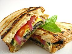 Paninis are wonderful- my fav stuff to put in is chicken and aiolo with some pickles, lettuce and tomato <3