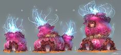 Ember Chronicles, Jose Borges on ArtStation Alien Concept Art, Game Concept Art, Environment Concept, Environment Design, Prop Design, Game Design, Aliens, Game Assets, Nature Tree