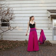 Lily Sage & Co: Playing dress ups with my two-piece set-actular wool cashmere wide leg high waist gauco culotte fancy pants rigel bomber papercut pattern hack mood fabrics