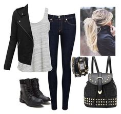 """""""Going out"""" by amylightwood ❤ liked on Polyvore featuring rag & bone/JEAN, Project Social T and LE3NO"""