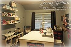 This would be a great room to have for scrapbooking. So calming.