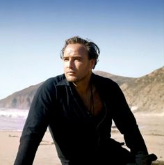 ONE-EYED JACKS (1961) - Marlon Brando as 'Rio' on location near Carmel, California - Directed by Marlon Brando - Paramount - Publicity Still.