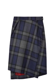 PRODUCT CODE: 326596 Red Label Navy Tartan Skirt by Red Label Vivienne Westwood #MYWTRENDS #AW14 #ModernPlaid