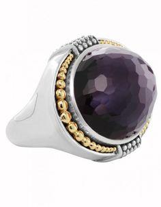 LAGOS Jewelry Amethyst Hematite Doublet Gemstone Statement Ring   LAGOS.com
