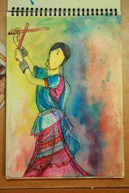 My Zen Mode: Illustration: Garba Girl