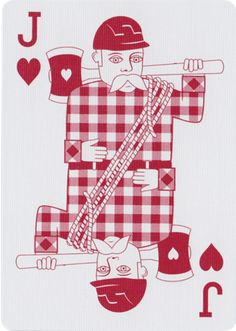 - About - Photos - Embrace your inner woodsmen with these beautiful lumberjack inspired playing cards. Custom designed from front to back and printed by the United States Playing Card Company. See mor Cool Playing Cards, Custom Playing Cards, Vintage Playing Cards, House Of Cards, Deck Of Cards, Your Cards, Card Games, Jack Of Hearts, Card Companies