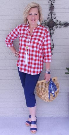 50 IS NOT OLD | THE IT BAG FOR SUMMER | FASHION OVER 40 | Gingham | Buffalo check plaid | Picnics | Memorial Day Fashion | Fashion over 40 for the everyday woman