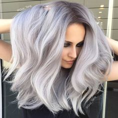 WEBSTA @ therighthairstyles - @guy_tang and @hairbesties_ - this color is a pure perfection!#silverblonde #iceblonde #blondehair #coolblonde #darkroots #therighthairstyles
