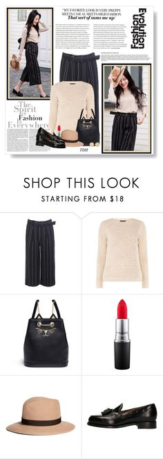"""""""Wide Leg Crop Pant"""" by talvadh ❤ liked on Polyvore featuring mel, MAC Cosmetics, Brooks Brothers, Berwick 1707 and Magdalena Frackowiak"""