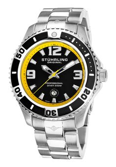 Price:$101.74 #watches Stuhrling Original 161B3.331165, Set sail with the high style of the Regatta from Stuhrling Original. This exciting offering begins with a round silver-tone case expertly crafted from durable stainless steel. A luminous dot adorns the unidirectional rotating bezel, the watch sits on a st