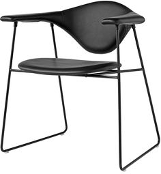 Masculo Side Chair Designer: GamFratesi Manufactured by: Gubi Dimensions (in): 24.4 w | 27.2 d | 28.3 h | seat: 17.7 h