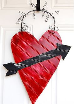 The Polka-Dot Umbrella: How I Made My Valentines Wreath