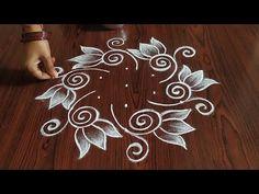 Rangoli Designs Latest, Simple Rangoli Designs Images, Rangoli Designs Flower, Rangoli Patterns, Rangoli Border Designs, Rangoli Designs With Dots, Rangoli With Dots, Beautiful Rangoli Designs, Simple Rangoli Kolam