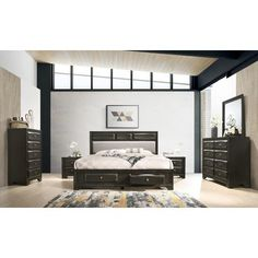 Shop for Oakland Antique Gray Finish Wood Queen Size Bedroom Set. Get free delivery On EVERYTHING* Overstock - Your Online Furniture Shop! Get in rewards with Club O! King Size Bedroom Sets, Wood Bedroom Sets, Bedroom Furniture Sets, Light Bedroom, Master Bedroom, Bedroom Ideas, Cheap Furniture, Home Furniture, Kitchen Furniture
