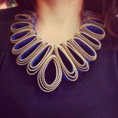 Zipper necklace by Mink.