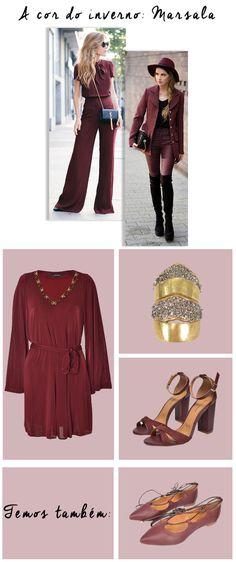 Get the Look: A cor do Inverno - Marsala. #moda #look #inverno #marsala #getthelook #inspiração #lnl #looknowlook